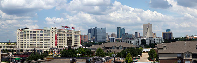 """Fort Worth Skyline2"" by Adam76110 Adam Stanford - Own work. Licensed under CC BY-SA 3.0 via Commons - https://commons.wikimedia.org/wiki/File:Fort_Worth_Skyline2.jpg#/media/File:Fort_Worth_Skyline2.jpg"